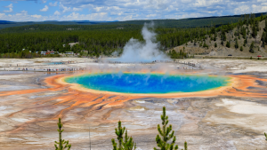Grand Prismatic Spring, Wyoming, Amerika Serikat