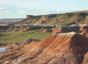 Painted Desert di Petrified Forest National Park, Arizona, Amerika Serikat